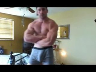 ripped of muscle and large bulge