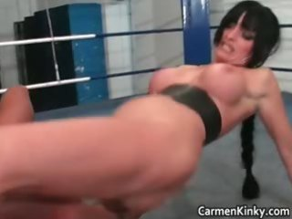 in nature wrestling with breasty dark brown