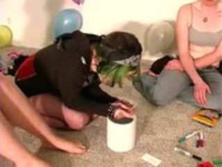 reality legal age teenager amateurs at a party