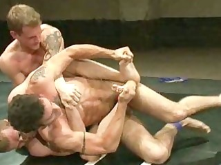 homo men having wild sex after wrestling match