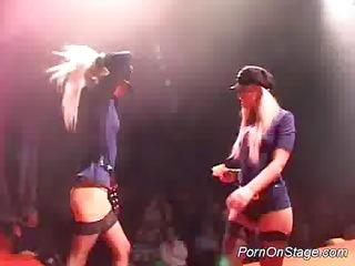 porn on stage lesbo stripper