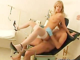 masked doctor bangs a hawt blond