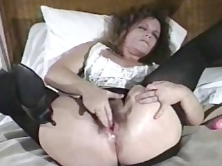 hirsute bawdy cleft doxy receives her arse screwed