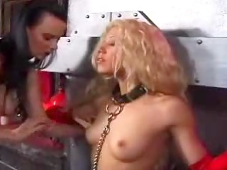 handcuffed roped and titty clamped