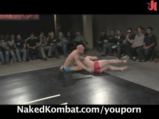 hawt males wrestle for the live audience!