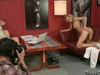 sexy gazoo blond takes her underclothing off and
