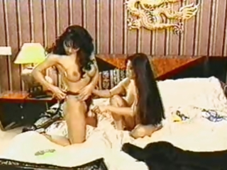 suzi &; ally playing with strap-on