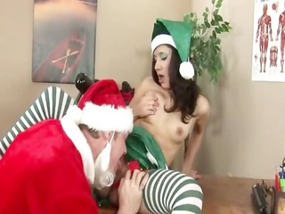 school christmas coitus with a student
