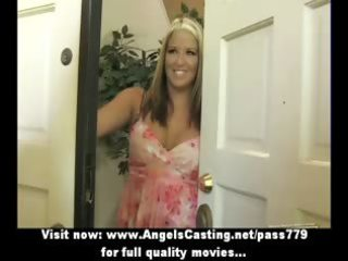 hot non-professional blond does oral stimulation