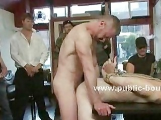 restaurant homosexual worker bound and humiliated