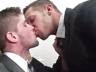 shane giving a kiss with his boss