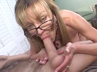 mature busty blond sucks big dick