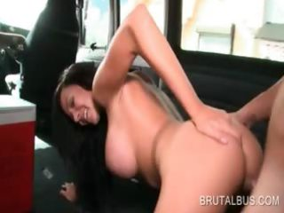 bus dilettante hotty takes shaft unfathomable in