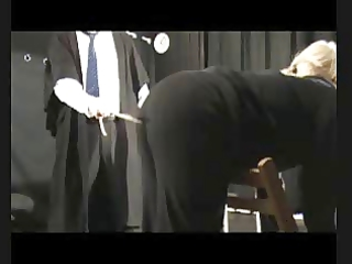sadomasochism caning - six over trousers