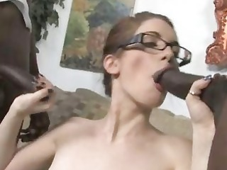 dark brown does anal with hung blacks