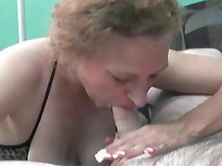 redhead anna in a bikini and swallowing a dick