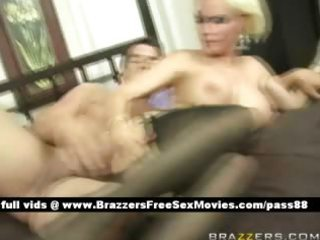 older breasty blond wife in sofa