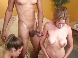 interracial trios oral-sex worship