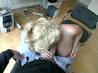 big boob blonde blows rock star.
