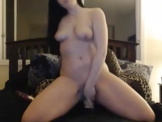breasty black brown fingering and sex-toy wet