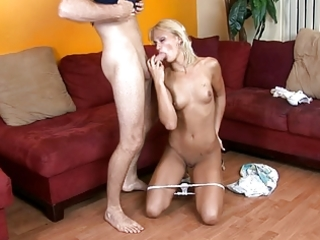 tall tan blond receives her wet crack fucked