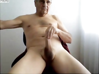 mature chaps show his hot body and pleasant hard