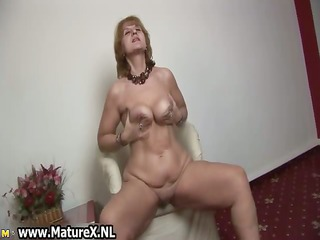 sexually excited old housewife is satisfying part9