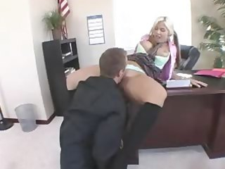 shocking blond copulates with the director