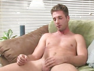 firm bodied blond homosexual johnny jerking off