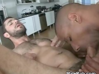dark chap fucking and cumming on white chap on