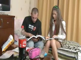 russian pair copulating after school