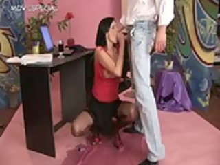 whore in nylons receives piddled in her