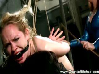 hogtied sub mastered by her lez slavemaster