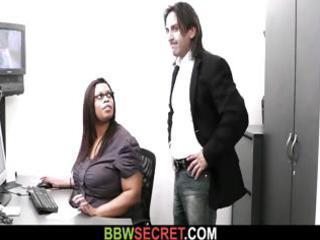 married boss bangs his chunky darksome secretary