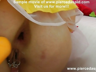 snow white with pierced muff and biggest anal