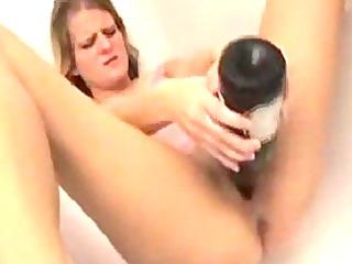 smutty tattooed blond has a solo baths fetish