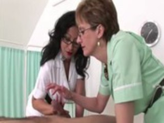 femdom fetish older nurses give tugjob