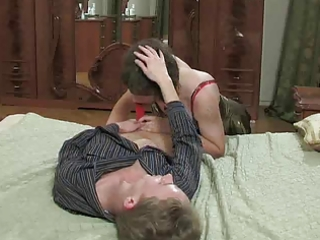 dilettante ts rides her mans tool