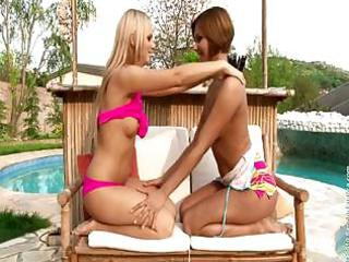 hot lesbos licking their vaginas on poolside
