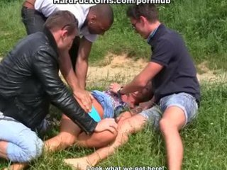 outdoor hardcore sex with a cute angel