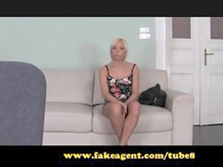 fakeagent. blond beauty can not await for anal.