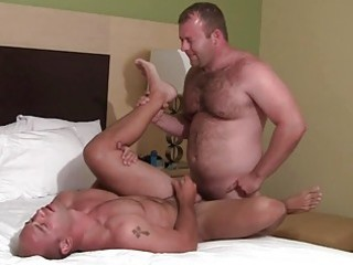 lustful homosexual hunks doing a doggy style in