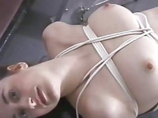 villein hogtied in her pants