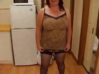 corpulent wife stripping