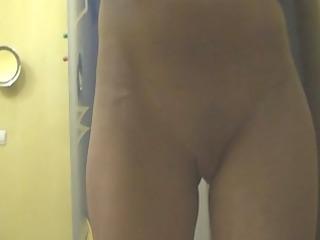 hidden webcam tanning room #3