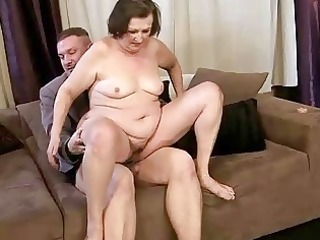 unsightly granny getting drilled charming hard