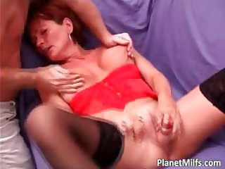 old lascivious bitch got gratified by large rod