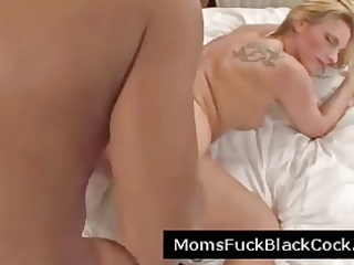 aged dark pecker bitch acquires vagina streched