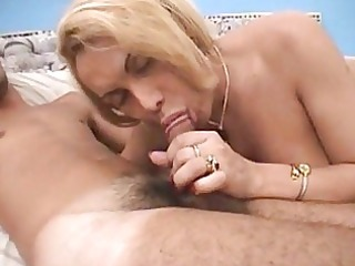 breasty golden-haired t-girl acquires arse pounded