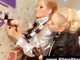 blond harlots got a bukakke at the magnificence